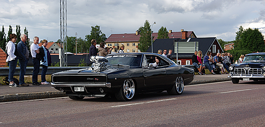 Johan Erikssons Dodge Charger på besök hos Big Wheels Malung